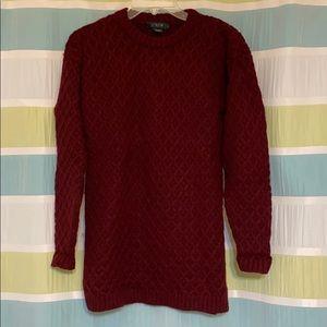 J Crew Wool Knit Sweater CottageCore Grandpa Small